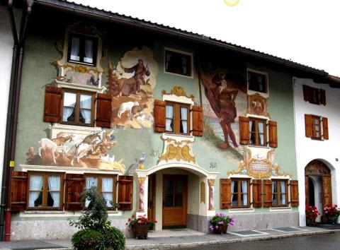 Casas pintadas na Bavária