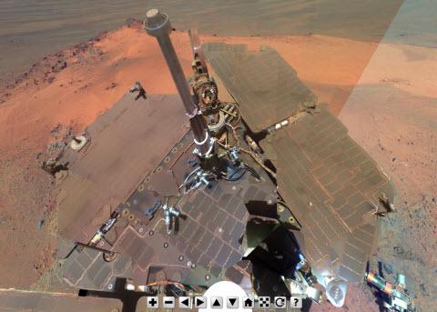 Mars en 360 degres