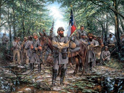 Guerre Civile Americaine en dessins.