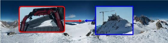 Mont Blanc et grue